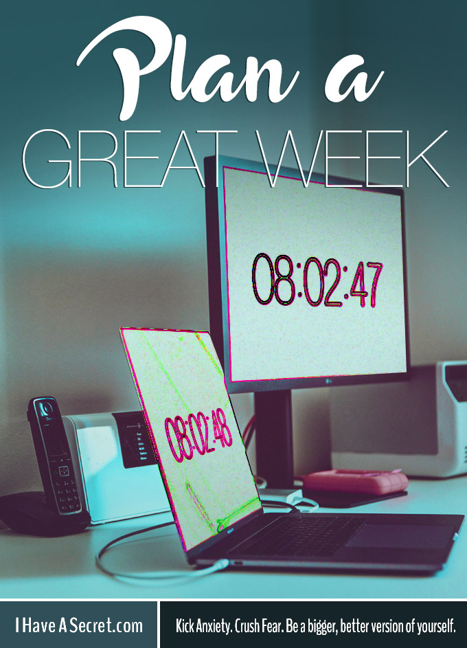 Plan a Great Week - Free Printable Planner